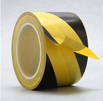 PVC Warehouse Floor Marking Tape Safety Hazard warning Black Yellow Tape PVC warning tape