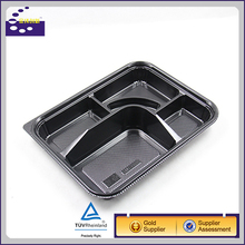 3 compartment lunch box/transparent plastic container