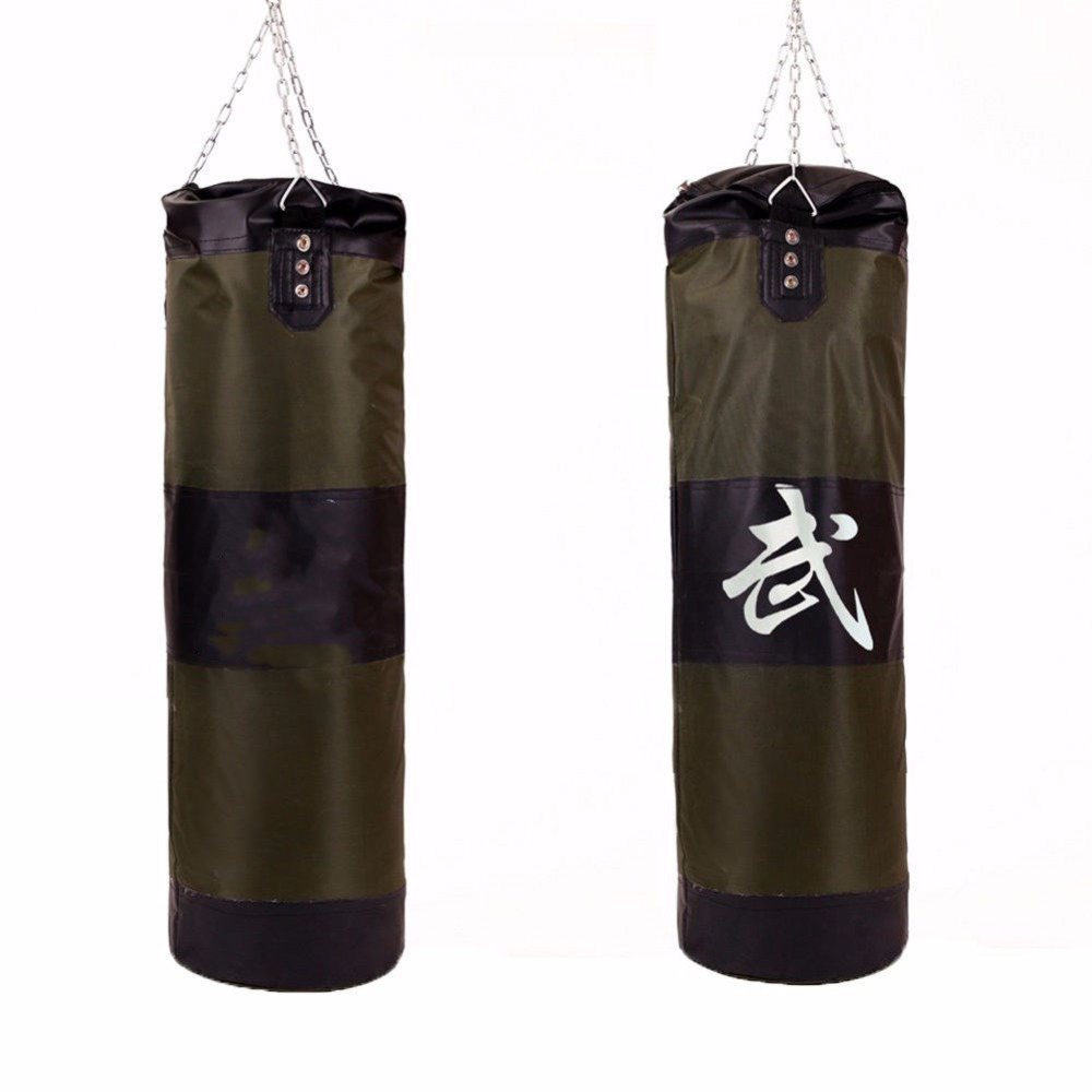 MMA Training Bracket Chain Heavy Punching Bag Unfilled Boxing Bags