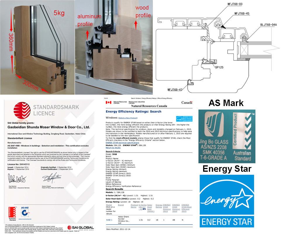 qualité allemande en bois fenêtre et portes pour Économie d'énergie