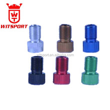 Fashion Aluminum Alloy Car Wheel Tyre Valve Caps Colorful Bicycle Tire Air Presta to Schrader Valve Adapter Cap