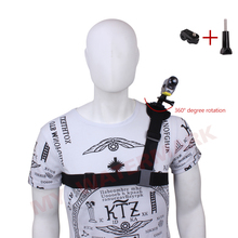 360 Rotate Harness Adjustable Shoulder Strap Mount Chest Belt + Tripod Adapter for Sony Action Cam Outdoor Sport Camera