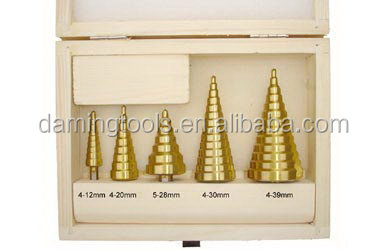 Good quality Best-Selling hss m2 titanium step drill bit set