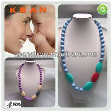 Silicone Chewing Necklace/Food-safe Non-toxic Chic Baby Enjoy Mom Nursing Teething Jewelry Charms