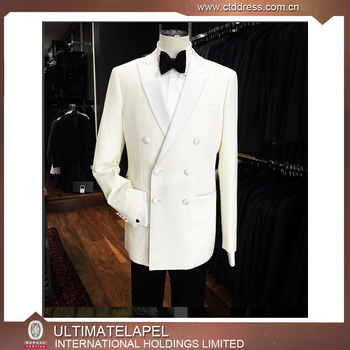 Top Brand High Quality White Coat Pant Mens Designer Wedding Half