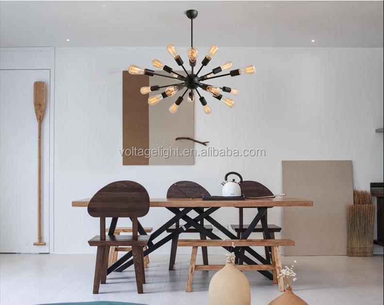 Modern interieur opknoping lamp kroonluchter lampen edison zwart