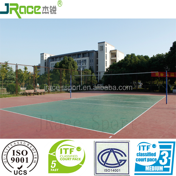 outdoor sport flooring volleyball sports floor mats manufacturer from China