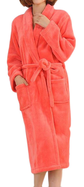 Get Quotations · Papijam Womens Soft Warm Flannel Robe Spa Kimono Winter  Bathrobe 132ddfb47