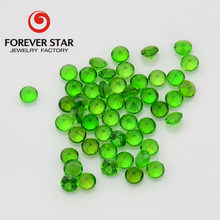 High Quality Factory Price 2mm Round Natural Green Gemstone Chrome Diopside Rough for Pendant