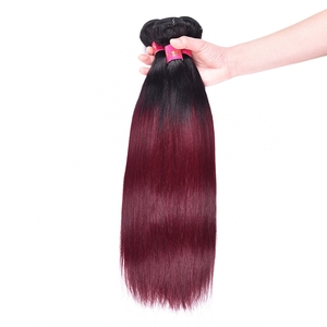 1b/99j Ombre Human Hair Extensions Wholesale Wine Red Ombre Straight Human Hair Weave