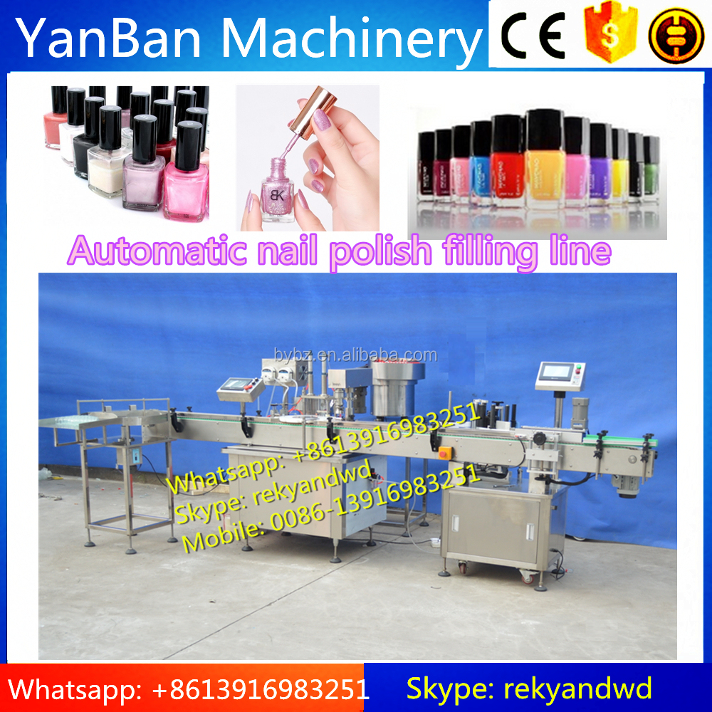 Automatic nail polish e liquid cigarette eye drop filling and cpping machine