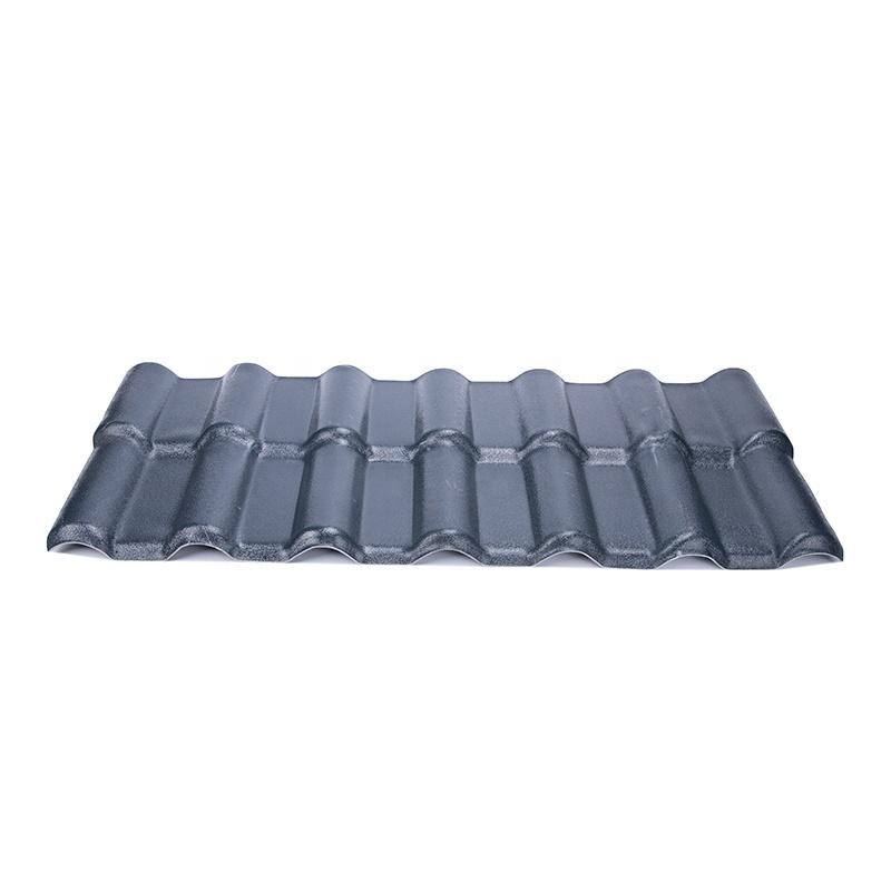 Castillo de materiales de construcción ligera español teja de techo de pvc-asa recubierto de resina sintética teja de techo