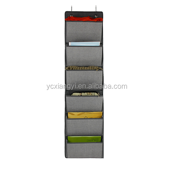 6 pockets behind the door organizer storage doors,hanging pocket organize pocket chart ,wall file holder magazine storage over