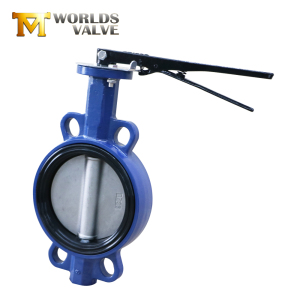 6 inch aluminum hand disc rubber soft seal wafer butterfly valve