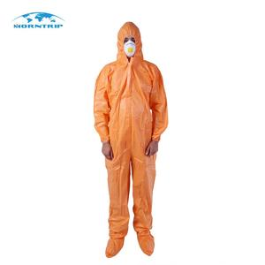 High Quality Disposable Orange Cheap Work Coverall For Asbestos