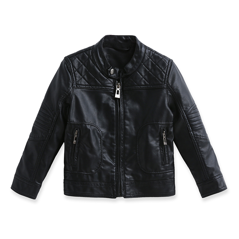 2015 Boys warm autumn fashion simple leather jacket collar coat baby motorcycle jackets baby boys leather jacket children bolero