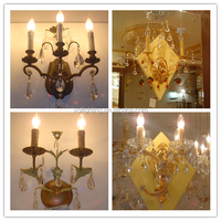 Chandelier crystal light candle lamp wall sconce