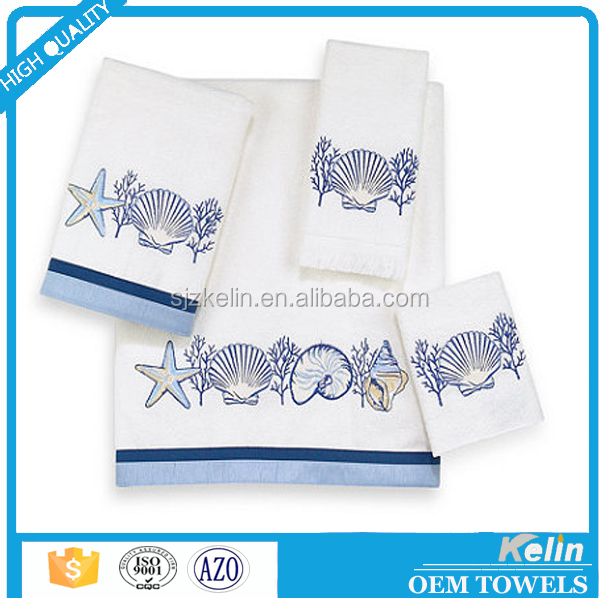 China manufactures promotion custom embroidered 100 cotton bath towel