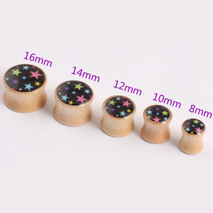 8mm-18mm Organic Body Jewelry Ear plugs Tunnels Logo Wood Plugs