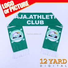 Newly Design Custom Embroidered Soccer Scarf for Morocco Raja Club