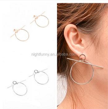 Nordstrom Flat Hoop Earrings Large Gold Faris Disc Hoops