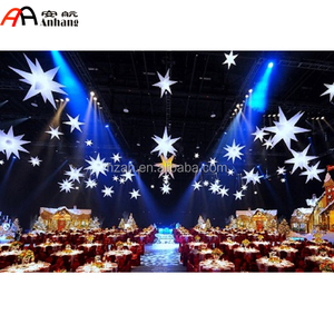 Event Decoration Inflatable Star/Inflatable 3D Light Stars Ceiling Hanging Decorations