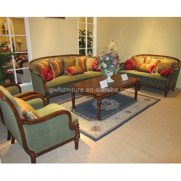 Old Style Wooden Sofa View