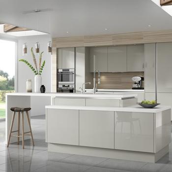 High Gloss Vinyl Wrap New Model Kitchen