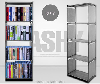 Very Modern Bookcase Bookshelf Fabric Steel Bookstore
