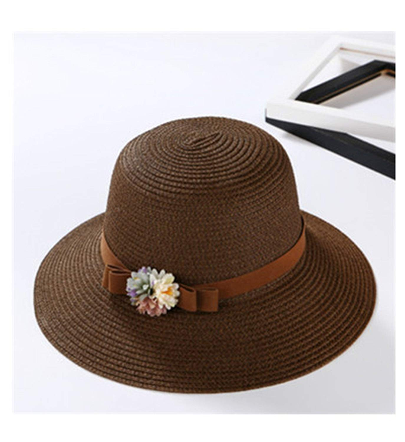 Gail Jonson Summer Big Sun Hat Bowknot Ladies Hat for Female Travel Beach Casual Women Straw Hat Cap Holiday Hat
