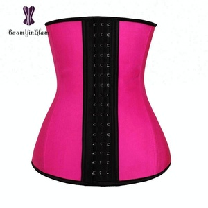cd29db9717d Directly factory OEM acceptable wholesale price 3 hooks waist trainer pink  latex corset