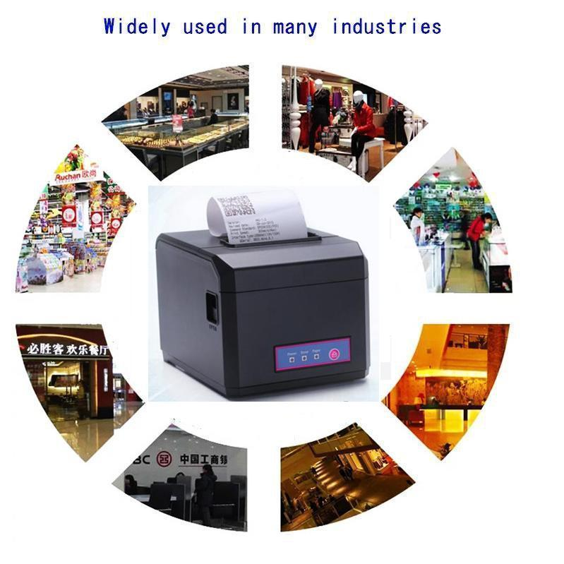 "Factory price 3"" 80mm thermal label printer with cutter"