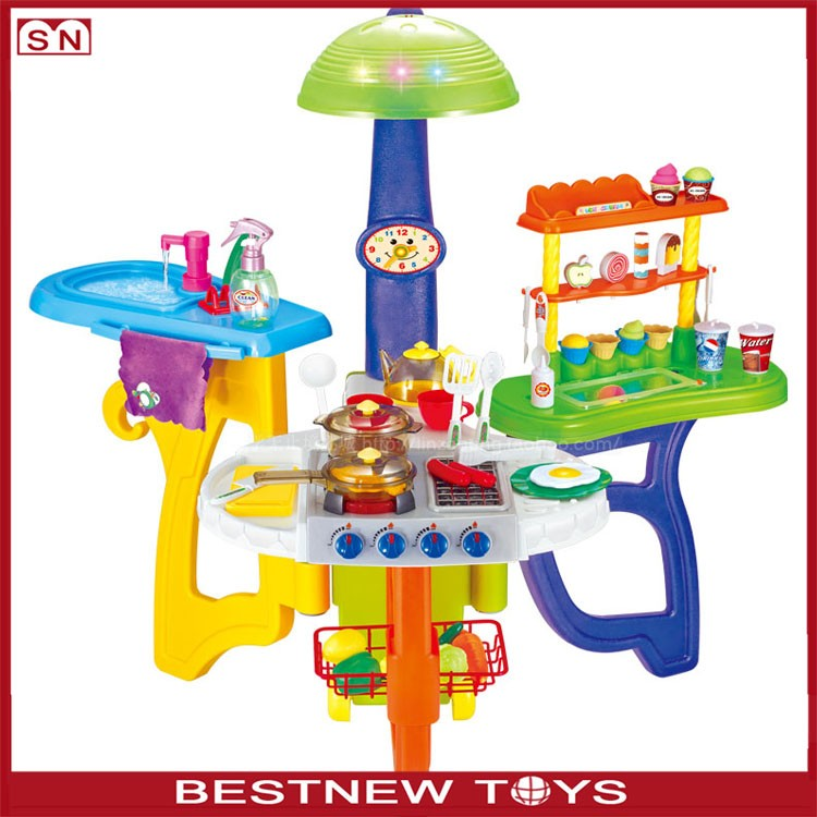 2017 new electronic toy big kids play kitchen toy sets for for Electronic kitchen set