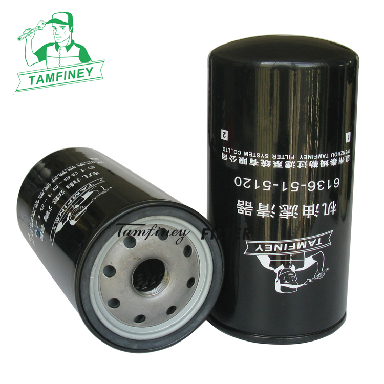 Oil filter in china for Auto filtre 6134515120 6134515121 6136-51-5120 6134-51-5120 6136-51-5121 6136-51-5120N parts filter