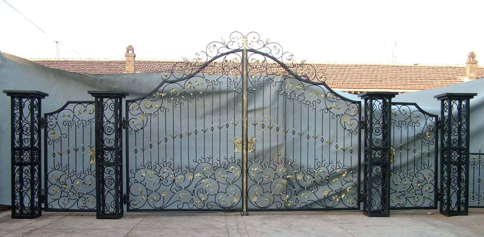 Modern Wrought Iron Main Gate Design For Home Villa And Garden