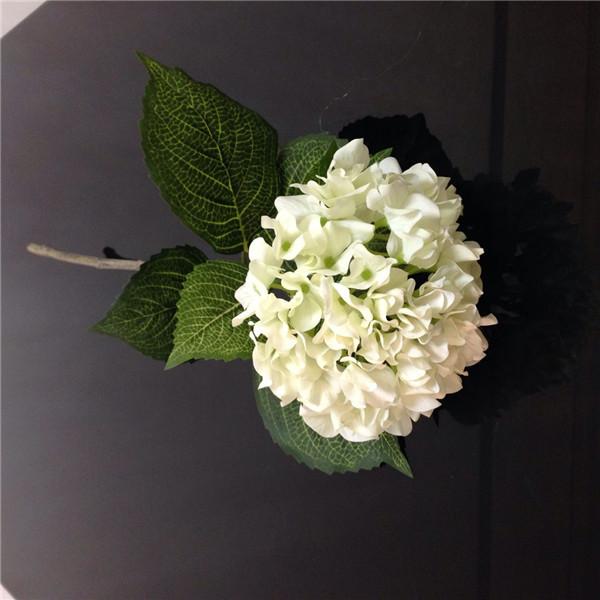Satin Handmade Flowers Artificial Latex Silk Hydrangeas