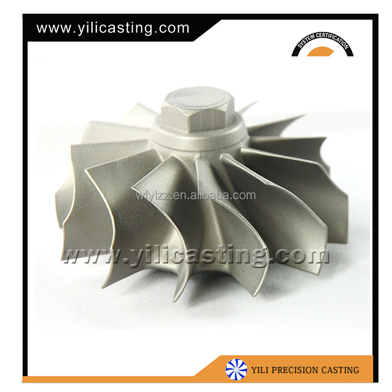 Rapid prototyping colloidal silica lost wax investment casting turbine wheel