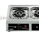 three burners table-top LPG gas stove with stainless steel cooktop