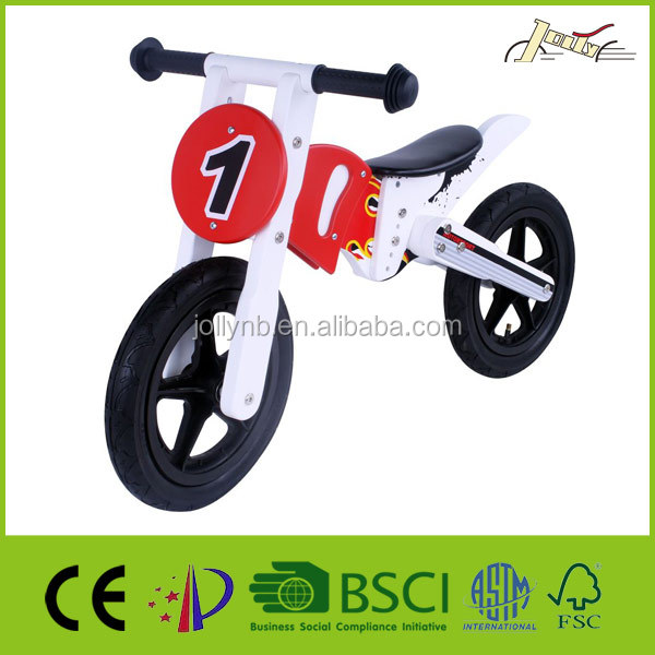 "12"" Wooden Balance Light Motor Bicycle as Child Toy Bike"