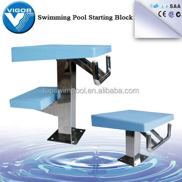 Blue color ABS stainless steel standard starting block swimming/swimming diving