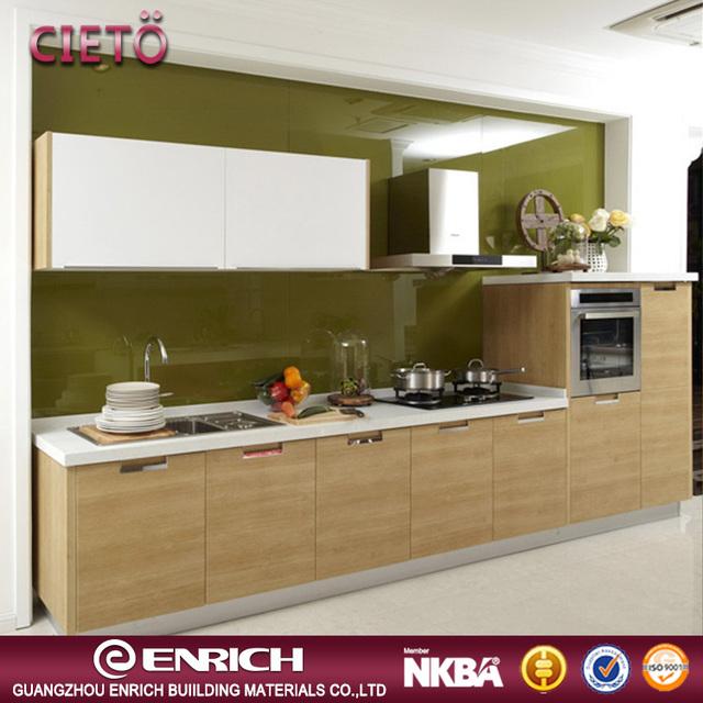 Classic Design Modular Kitchen Cabinet MDF Door Panel Melamine Board  Kitchen Cabinet Design