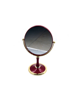 Round ABS plastics double side Colorful plastic table standing cosmetic mirror