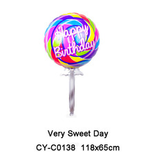 Happy birthday party supplies foil sweet rainbow cake balloons sex toys foil birthday balloons