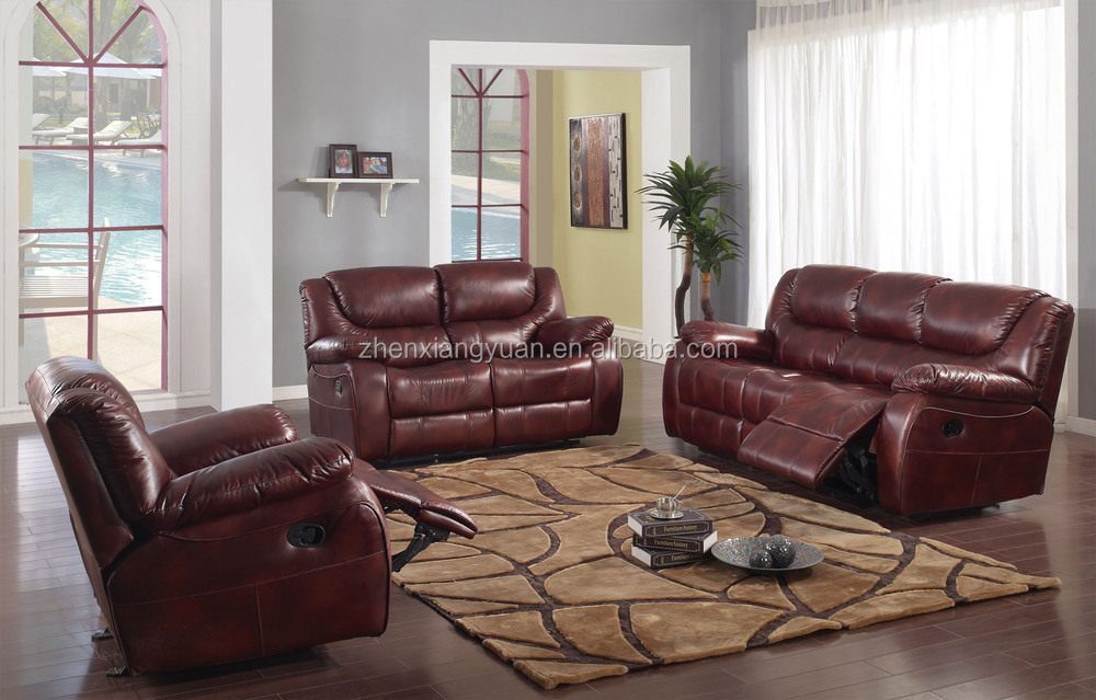 Sf3606 3 Seater Recliner Leather Sofa