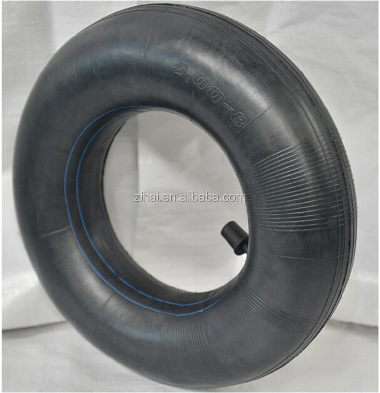 Natural rubber 400-8 motorcycle inflatable inner tube factory