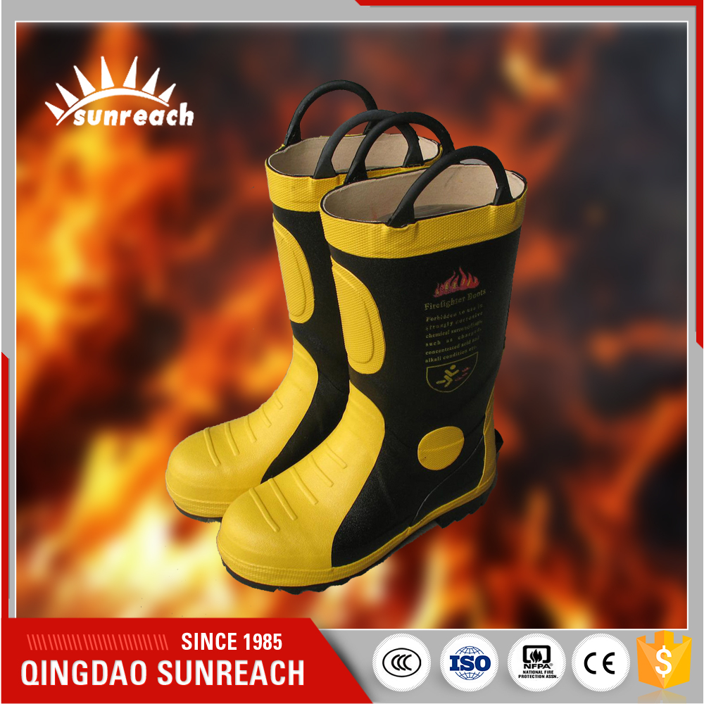 For Firefighters Safety Rubber Boots