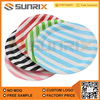 7-Inch Birthday Caks Plates Disposable Stripe Tray Plates