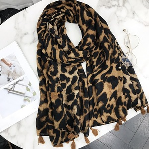 2018 Latest Women Cotton Hijab Whoelsae Leopard Printed Scarves