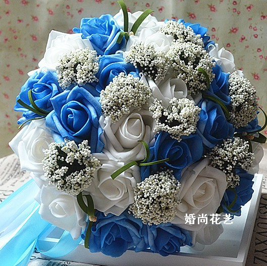 Wedding Flowers Cheap Online: Cheap Wedding Bride Bouquet Artificial Silk Flowers