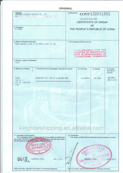 Certificate Of Origin Service Form China To France Form A ...